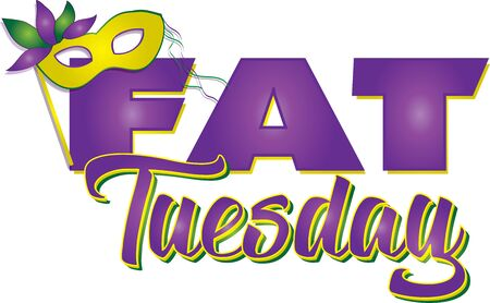 Fat Tuesday Banner Illustration