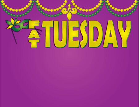 Fat Tuesday Mardi Gras Background