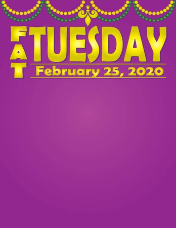 Fat Tuesday February 2020 Illustration