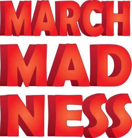 Gráfico apilado March Madness Ilustración de vector