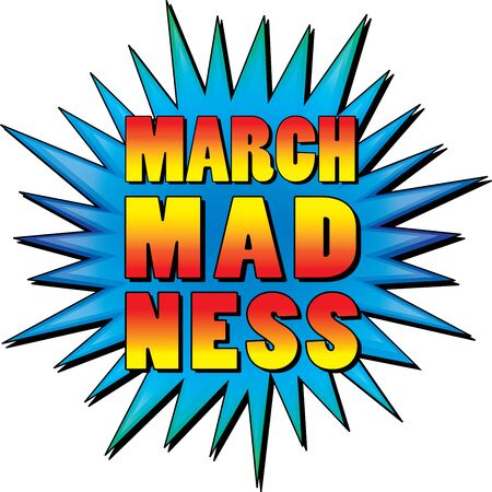 Colorful March Madness Starburst Ilustrace