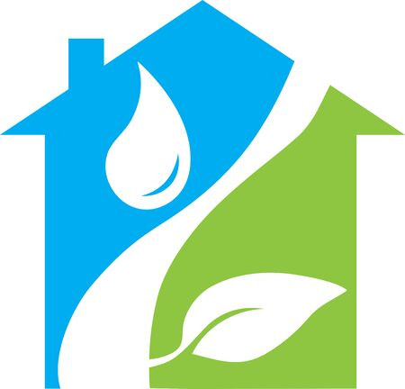Energy Efficient House Logo promoting going green and preserving the planet