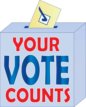 You Vote Counts Ballot Box Illustration