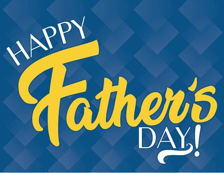 Happy Father's Day Geometric Banner Illustration