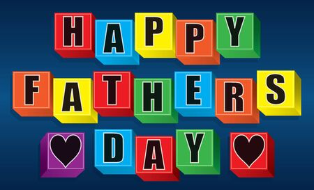 Happy Father's Day written with toy blocks