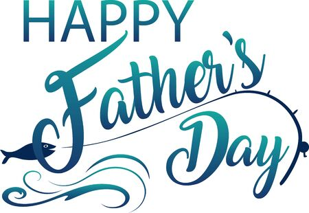 Happy Father's Day Fishing Graphic