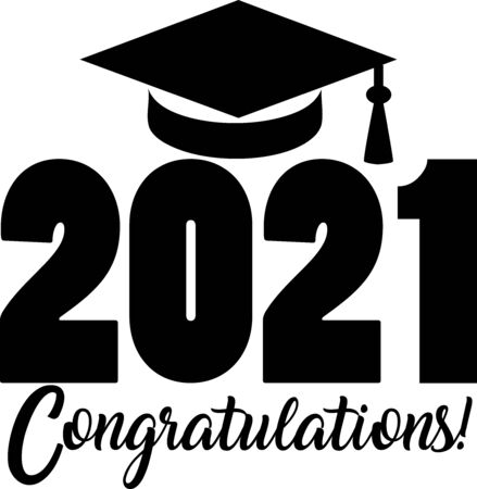 2021 Congratulations with Graduation Cap