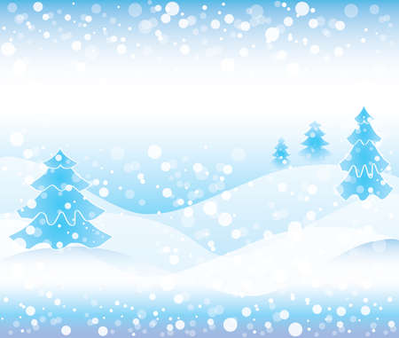 Winter Scene with Snow Background Illustration