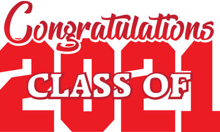 Class of 2021 Congratulations Red Design