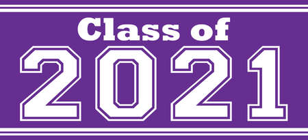 Purple Class of 2021 Bold Banner