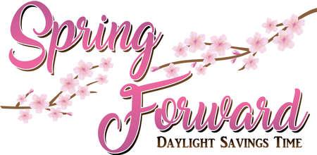 Spring Forward Daylight Savings Time 일러스트