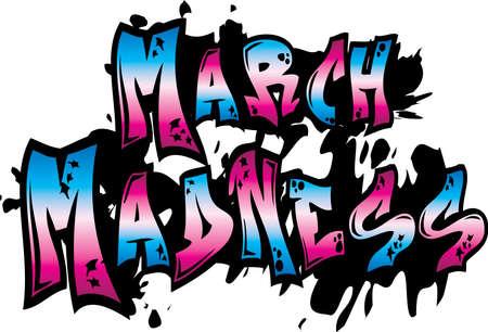 March Madness Graffiti Art Vektorové ilustrace