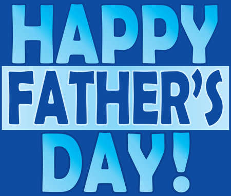 Happy Father's Day Blue Banner