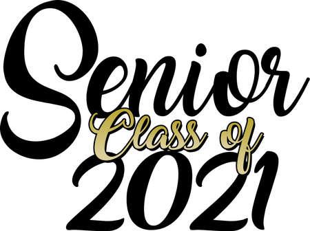 Senior class of 2021 gold script