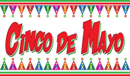 Colorful Cinco de Mayo  Banner Фото со стока - 165695167