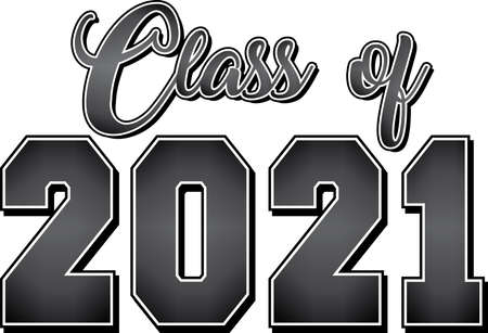 Class of 2021 Black and White Gradient Banner