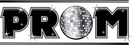 Prom Shiny Text with disco ball