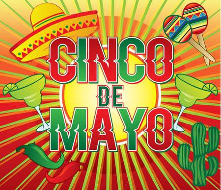 Cinco de Mayo Colorful  poster