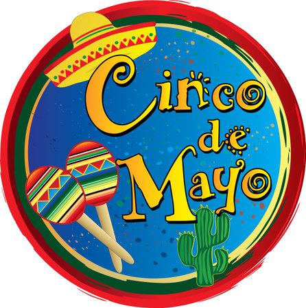 Cinco de Mayo Circle  Clip Art Иллюстрация