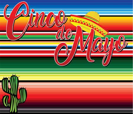 Cinco de Mayo Banner Mexican Blanket