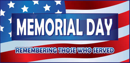 Memorial Day Banner Honoring those who served