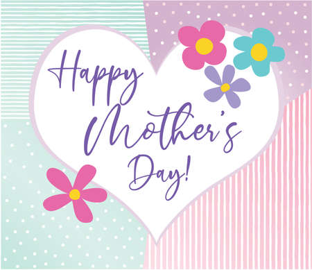 Happy Mother's Day with Decorative Heart