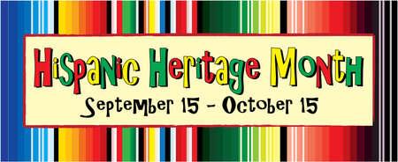 Hispanic Heritage Month September 15 through October 15 Иллюстрация