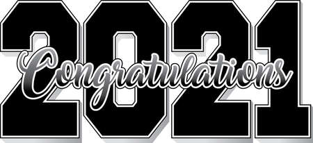Class of 2021 Congratulations Bold Black and White Banner