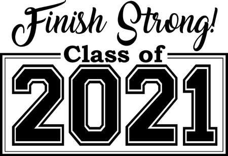 Finish Strong Class of 2021 Иллюстрация