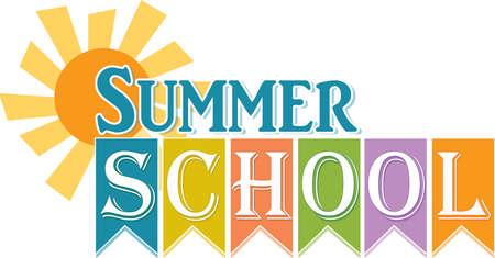 Summer School Logo with Sun