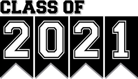 Class of 2021 Black and White Banner