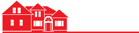 House Icon Template Red and White