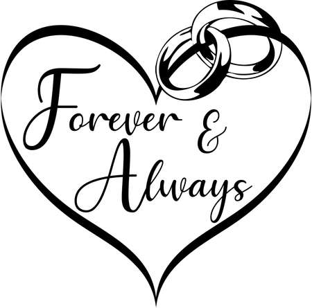 Forever and Always Heart Graphic