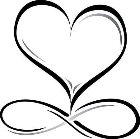 Wedding Logo with Infinity Symbol and Heart
