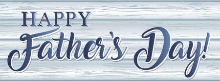 Happy Father's Day Barnwood Banner Иллюстрация