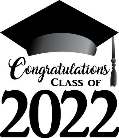 Class of 2022 Script Black and White