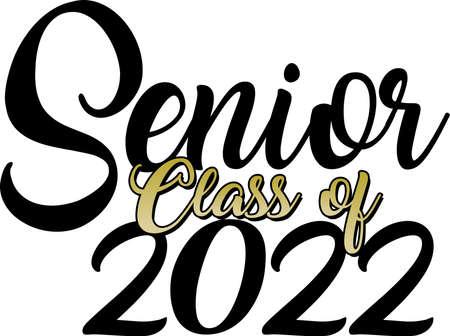 Senior class of 2022 gold script