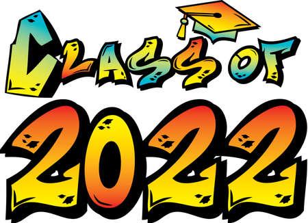 Class of 2022 Graffiti Logo Colorful Multi Color