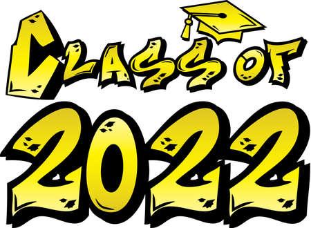 Yellow Class of 2022 Graffiti Logo