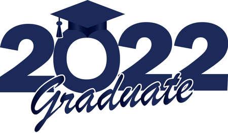 Blue Class of 2022 Graduate