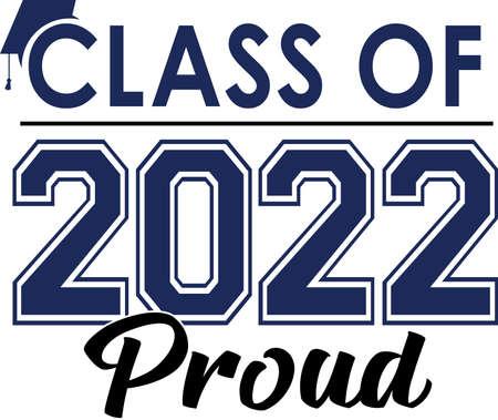Class of 2022 PROUD Logo with Graduation Cap