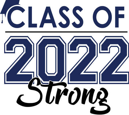 Class of 2022 Strong Graphic