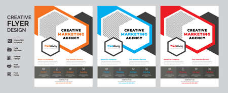Corporate Flyer Template Design Brochure, Annual Report, Magazine, Poster, Corporate, Flyer, layout modern size A4 Template, Easy to use and edit.