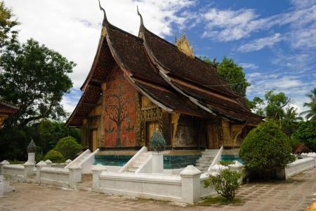 Wat Xieng thong temple,Luang Pra bang, Laos Banco de Imagens