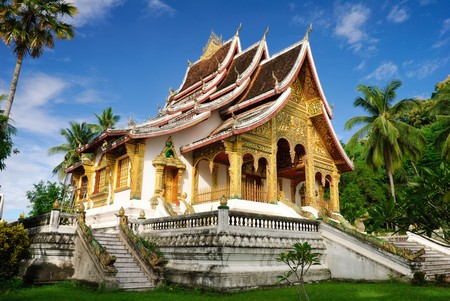 laos: Temple in Luang Prabang Royal Palace Museum, Laos