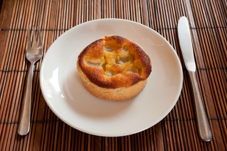dessert on dish photo