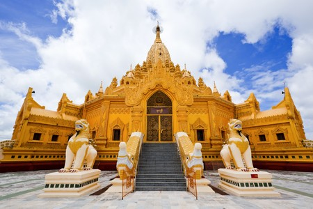 Myanmar: SWE Taw Myat, pagode de la relique de le dent de Bouddha, Yangon, Birmanie.  Banque d'images