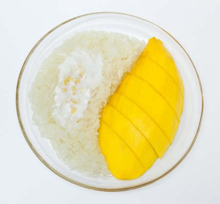 Mango with sticky rice, Thai style dessert photo