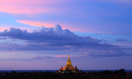 ananda temple at twilight, Bagan, Myanmar