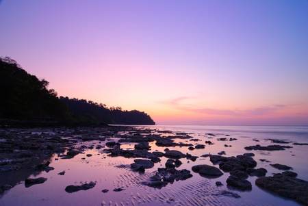 Seascape of Koh Rok island at sunrise, Krabi, Thailand Banco de Imagens